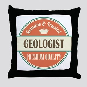 geologist vintage logo Throw Pillow