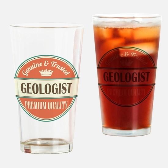 geologist vintage logo Drinking Glass