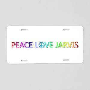 Peace Love Jarvis Aluminum License Plate