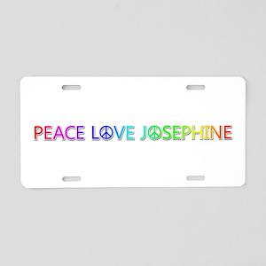 Peace Love Josephine Aluminum License Plate
