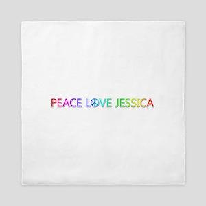 Peace Love Jessica Queen Duvet
