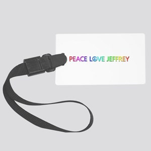 Peace Love Jeffrey Large Luggage Tag