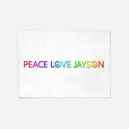 Peace Love Jayson 5'x7' Area Rug