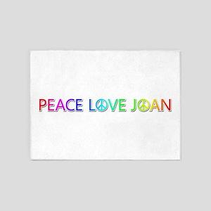 Peace Love Joan 5'x7' Area Rug