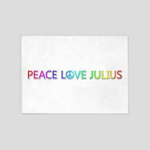 Peace Love Julius 5'x7' Area Rug