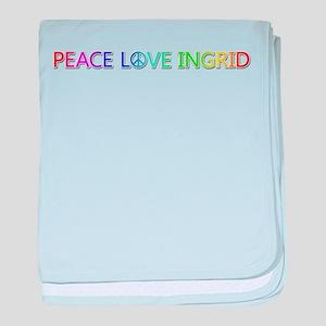 Peace Love Ingrid baby blanket