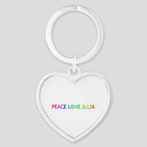 Peace Love Julia Heart Keychain