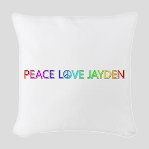 Peace Love Jayden Woven Throw Pillow