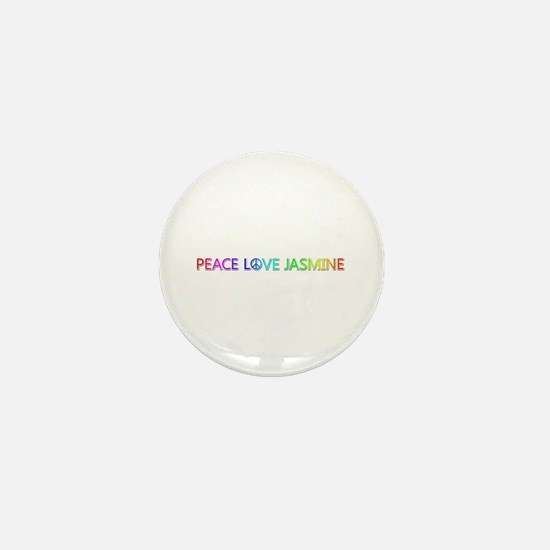 Peace Love Jasmine Mini Button