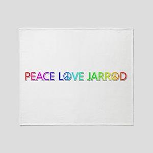Peace Love Jarrod Throw Blanket