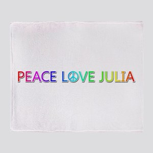 Peace Love Julia Throw Blanket