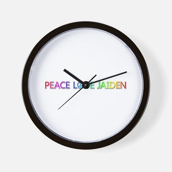 Peace Love Jaiden Wall Clock