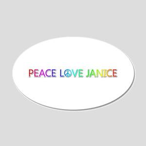 Peace Love Janice 20x12 Oval Wall Decal