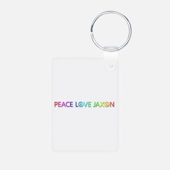 Peace Love Jaxon Aluminum Keychain