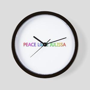 Peace Love Julissa Wall Clock