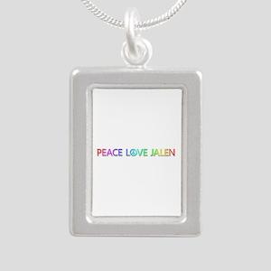 Peace Love Jalen Silver Portrait Necklace