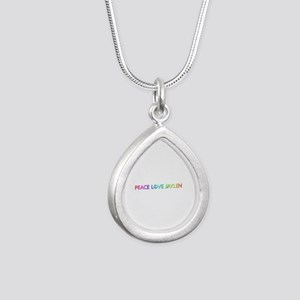 Peace Love Jaylen Silver Teardrop Necklace