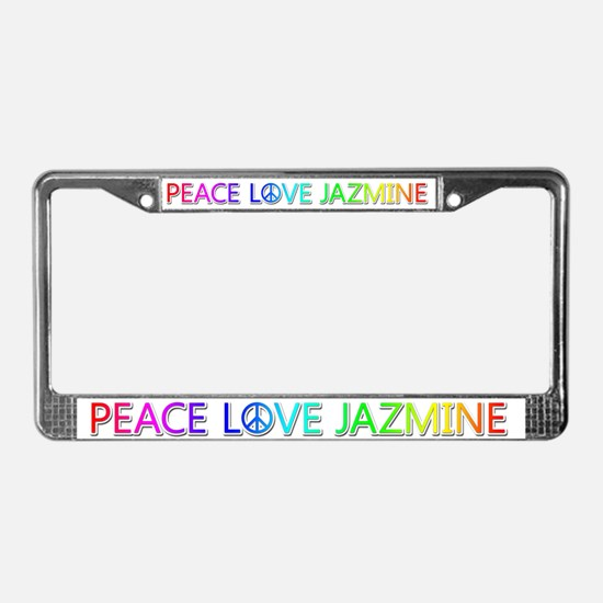 Peace Love Jazmine License Plate Frame