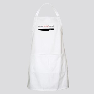 Just say yes chef Apron