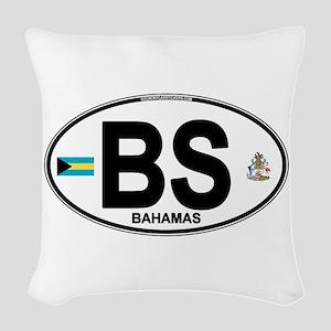 bahamas-oval Woven Throw Pillow