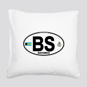 bahamas-oval Square Canvas Pillow