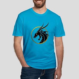 Dragon Logo Men's Fitted T-Shirt (dark)
