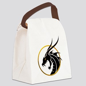 Dragon Logo Canvas Lunch Bag
