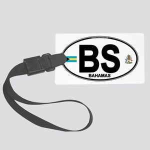 bahamas-oval Large Luggage Tag