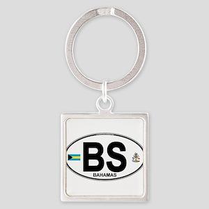 Bahamas Euro Oval Keychains