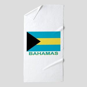 bahamas-flag-labaled Beach Towel