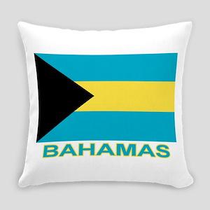 bahamas-flag-labaled Everyday Pillow