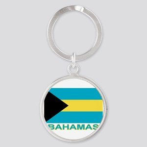 Bahamian Flag (labeled) Keychains