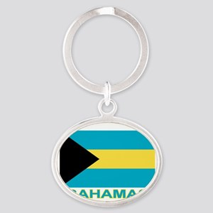 Bahamian Flag (labeled) Keychains