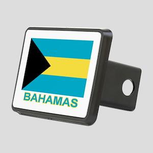 bahamas-flag-labaled Rectangular Hitch Cover