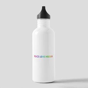 Peace Love Hogan Water Bottle