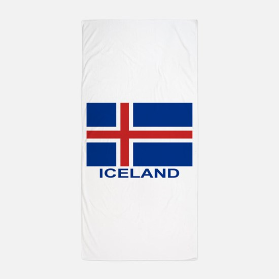 iceland-flag-labeled.png Beach Towel