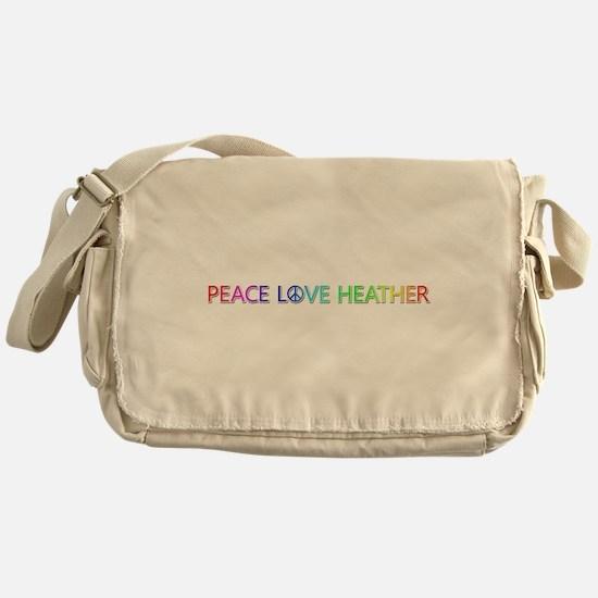 Peace Love Heather Messenger Bag