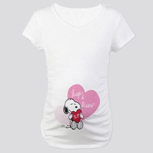 Snoopy - Hugs and Kisses Maternity T-Shirt