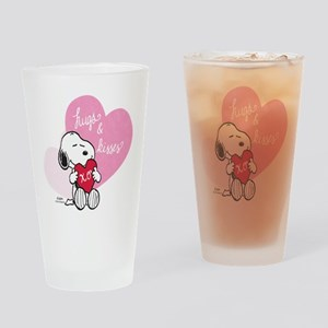 Snoopy - Hugs and Kisses Drinking Glass