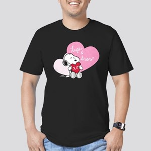 Snoopy - Hugs and Kiss Men's Fitted T-Shirt (dark)