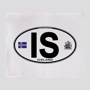 iceland-oval Throw Blanket