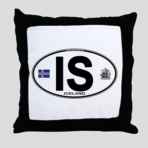 iceland-oval Throw Pillow