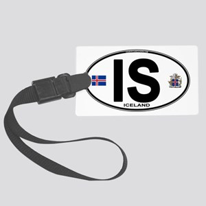 iceland-oval Large Luggage Tag