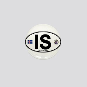 iceland-oval Mini Button
