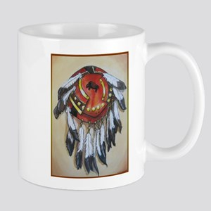 Native American Shield, Buffalo art Mugs