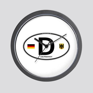 Germany D Deutchland Wall Clock