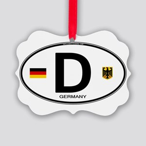 Germany D Deutchland Picture Ornament