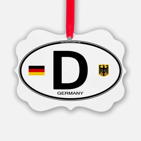 Germany D Deutchland Ornament