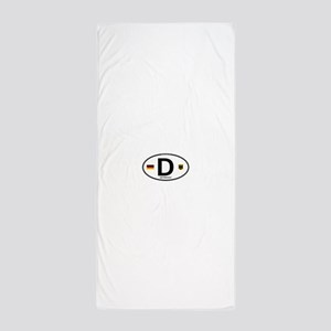 Germany D Deutchland Beach Towel