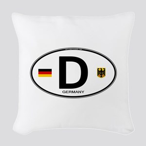 Germany D Deutchland Woven Throw Pillow